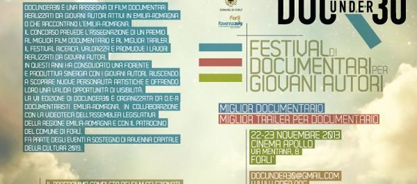 Aperte le iscrizioni ai seminari gratuiti della VII edizione di DOCUNDER30 – iscrizioni aperte fino al 21 novembre